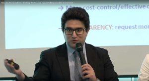 Nicolas Firzli presenting