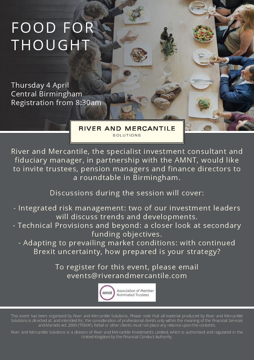 River and Mercantile in partnership with the AMNT – Food for thought roundtable