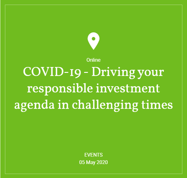 Hymans Robertson - COVID-19 - Driving your responsible investment agenda in challenging times