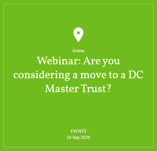Hymans Robertson - Webinar: Are you considering a move to a DC Master Trust?