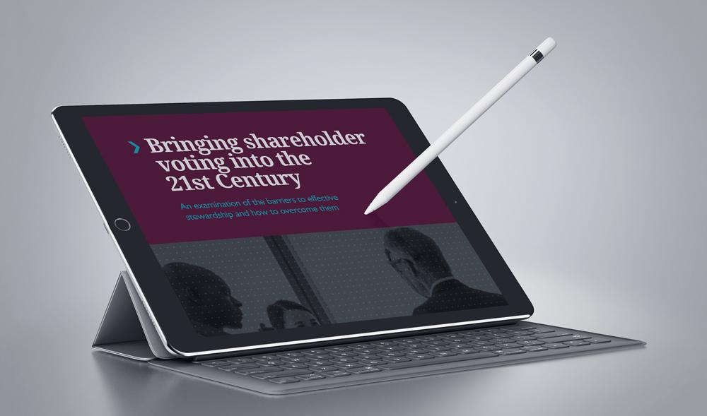 Bringing shareholder voting into the 21st Century