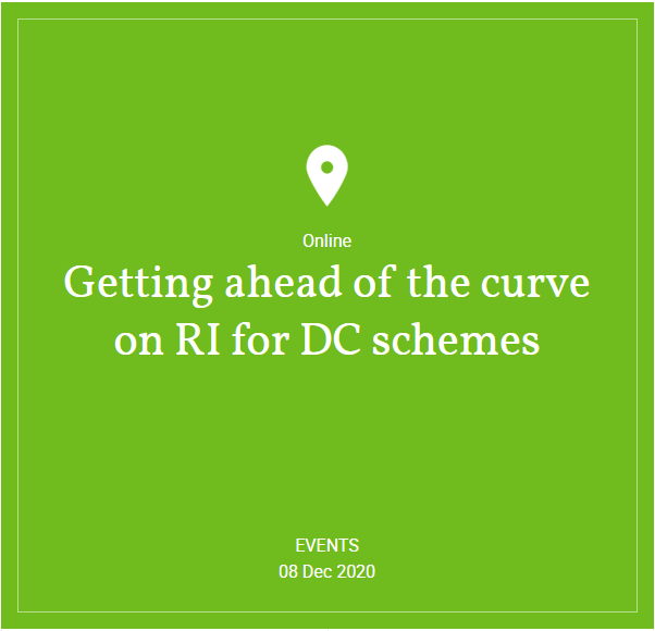 Hymans Robertson - Webinar: Getting ahead of the curve on RI for DC schemes