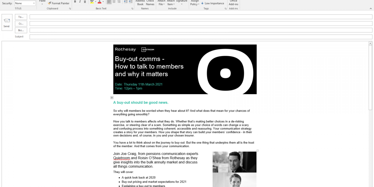 Buy-out comms - How to talk to members and why it matters
